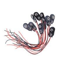 100 шт/компл 9v батареи зажимы 15 см черный красный кабель Соединительная