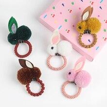 Headwear Tie-Rope Hair-Accessories Rubber-Band Hair-Ball Elastic Rabbit Korean Fashion
