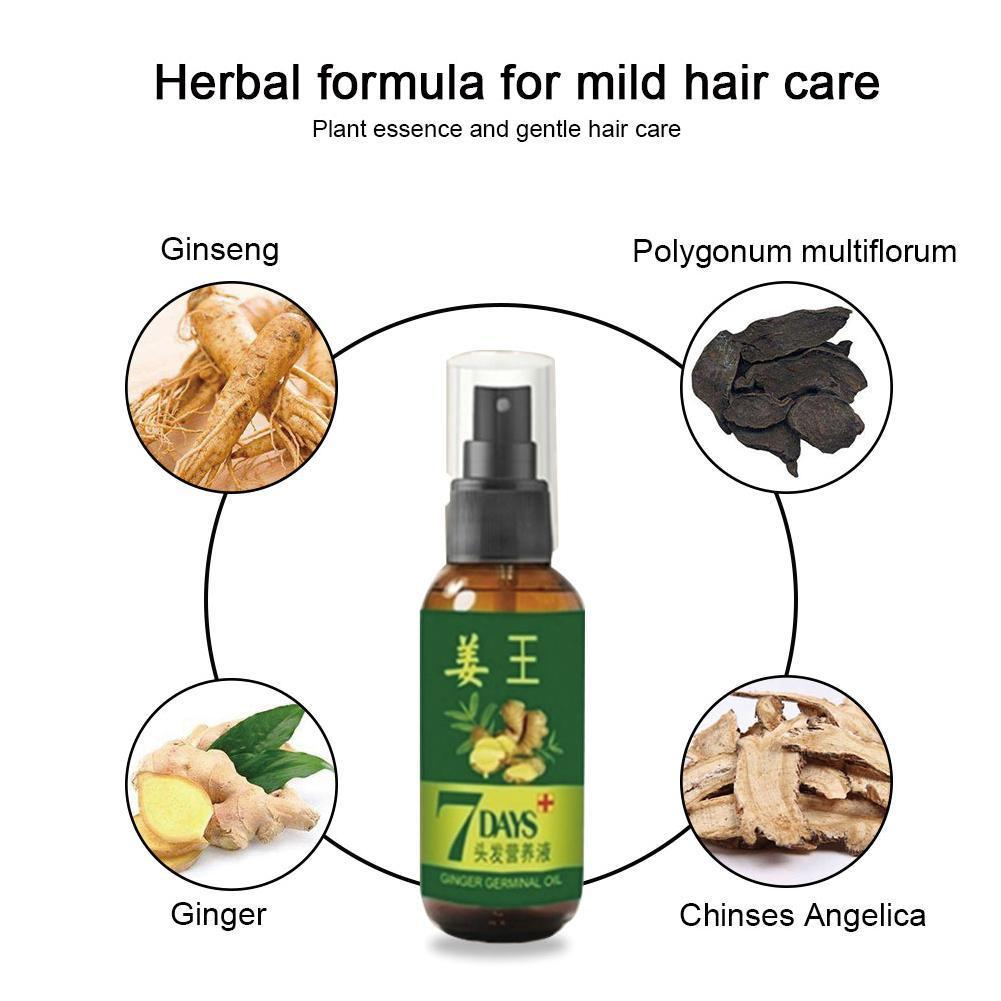 30/50 мл Сыворотка для роста волос для женщин и мужчин против выпадения волос для восстановления поврежденных алопеций жидкая эссенция имбир...