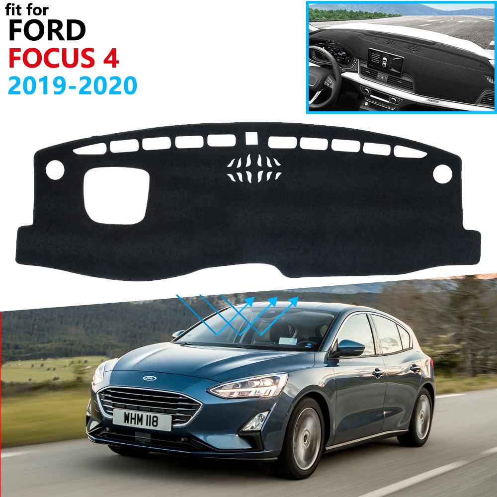 Dashboard Cover Protective Pad for Ford Focus 4 2019 2020 MK4 Car Accessories Dash Board Sunshade Anti-UV Carpet Dashmat Cushion