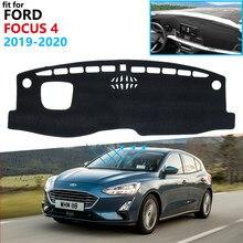 Capa protetora para painel de carro, almofada de proteção para ford focus 4 2019 2020 mk4 proteção para painel de carro proteção contra uv