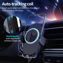 15W magnetyczna bezprzewodowa ładowarka samochodowa Qi dla iPhone 12 Auto Smart Scan szybka bezprzewodowa ładowarka uchwyt samochodowy do Samsung Xiaomi itp tanie tanio CN (pochodzenie)