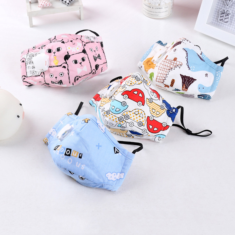 Child Mask Vertical Folding PM2.5 Filter Mask Non Woven Fabric Mask With Breath Valve Anti Dust Mouth Muffle Mouth Mask