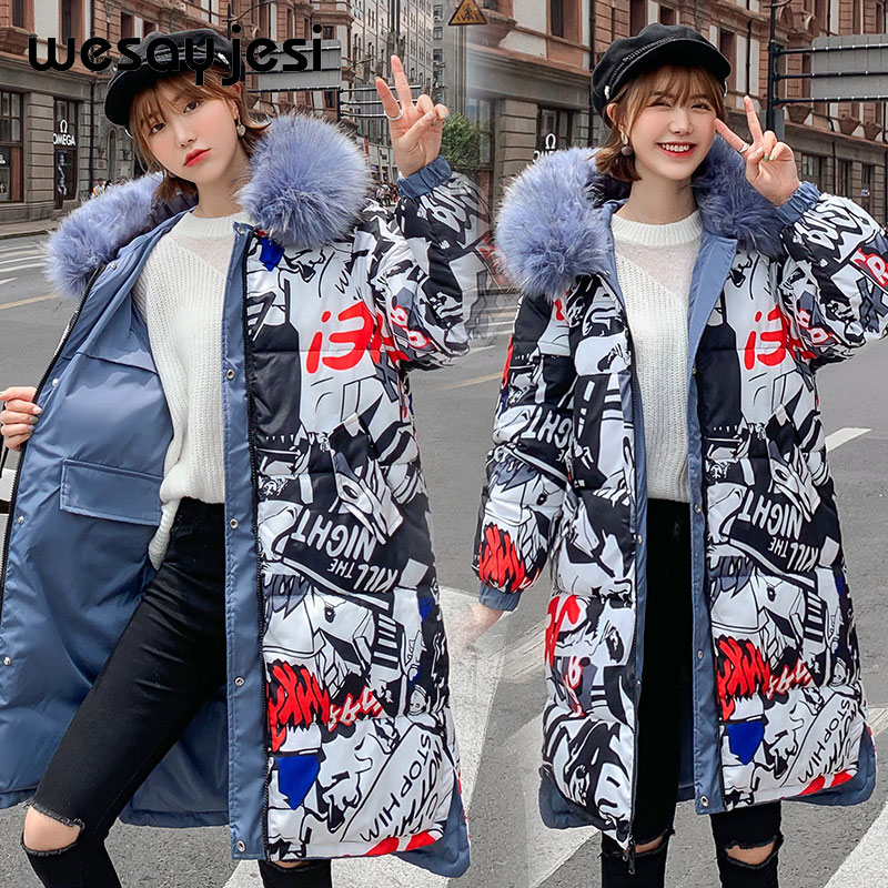 Both Side Wear   Parka   Coat New long   parkas   coat Thicken with a belt warm big fur collar jacket coats Casual female winter outwear