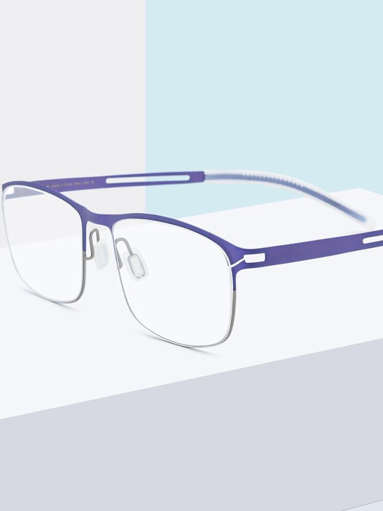 FONEX Glasses Frame Screwless Eyewear Square Optical-Prescription B Titanium New Men