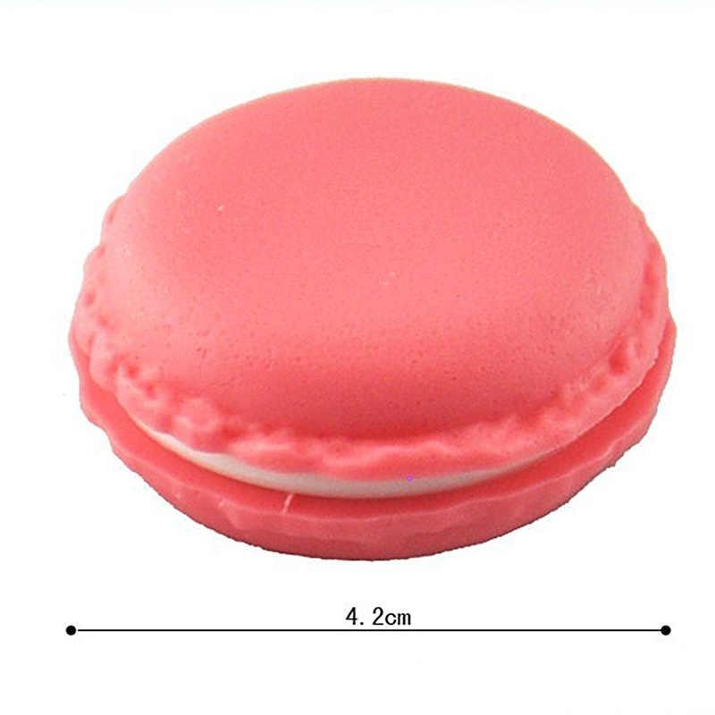 50 sztuk luzem 4cm biżuteria plastikowe pudełko Organizadores prezent Mini Macarons cukierki kolor pudełka do przechowywania organizer biżuterii prezenty ślubne