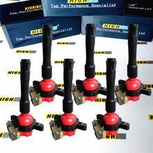 Conjunto de 6 bobinas de ignição, bobinas de ignição, adequadas para bmw e46 e39 x5 e36 325 330 328 m3 z3 2.5l 2.8l 2.3l 3.0l 3.2l l6 12131703228