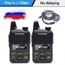 2 sztuk Baofeng BF T1 przenośne słuchawki Ptt MINI Walkie Talkie podręczny bft1 Hotel cywilny Radio Comunicador Ham HF Transceiver
