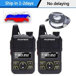 Image 1 - Baofeng BF T1 MINI Walkie Talkie portátil, bft1, Hotel, Comunicador de Radio civil, transceptor Ham HF, 2 uds.