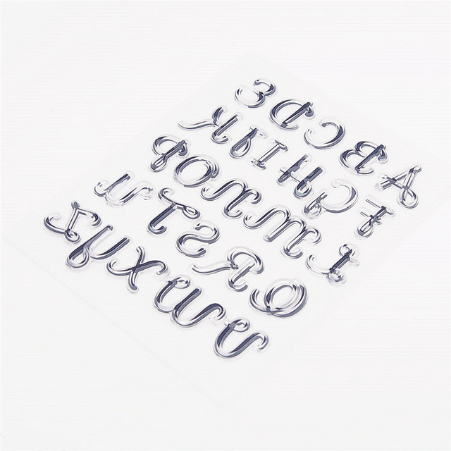 14x18CM 26 alphabet lovely Transparent Seal Clear Stamps Silicone Seal Roller Stamps DIY Scrapbook Album / Card Production