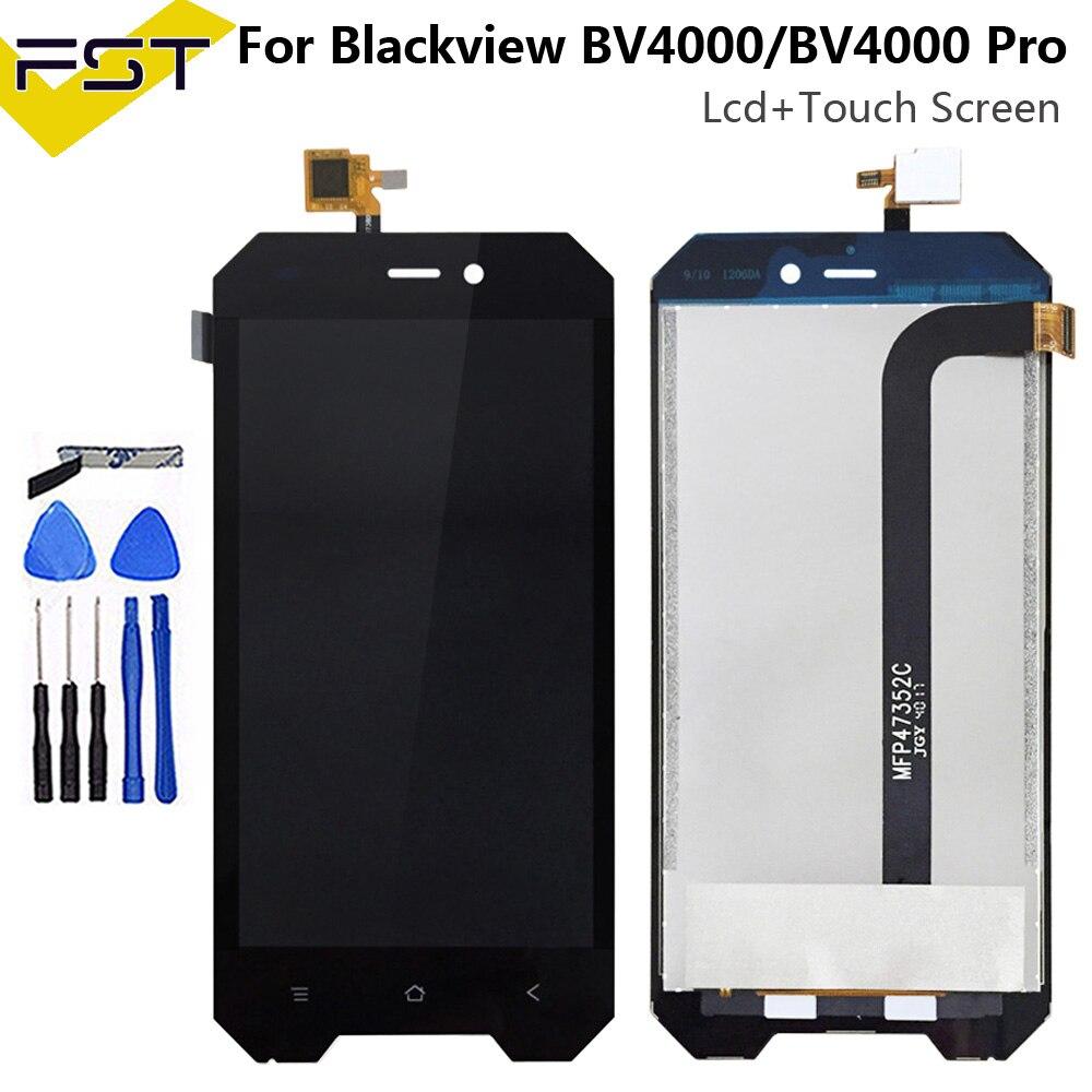 4.7 for for para blackview bv4000 display lcd + tela de toque 100% testado tela digitador assembléia substituição bv 4000 pro