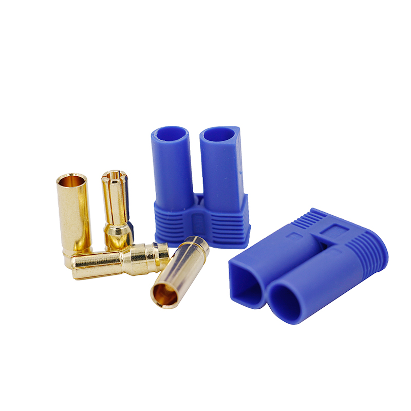 1 Pair EC3 EC5 RC Connector Female Male Bullet Gold Connector Plug For RC Lipo Battery