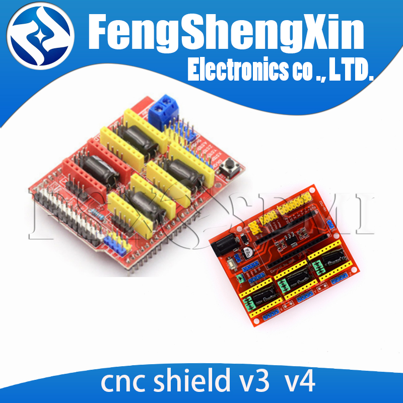 cnc shield v4 Laser engraving machine set extension board Printer engraving V3 A4988 driver board