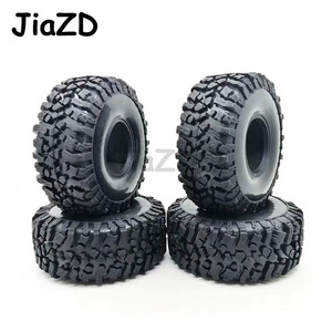Image 2 - 4PCS 120MM 1.9INCH Rubber Rocks Tyres Wheel Tires for 1:10 RC Rock Crawler Axial SCX10 90047 D90 D110 TF2 For TRX 4 W121