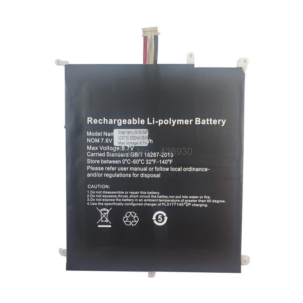 Laptop Battery For Chuwi For Aerobook G139 CWI547 CWI510 HW-34154184 34154184P 7.6V 5000mAh 38WH New