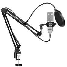 Filtre de pied de Microphone pour support BM800 Studio professionnel 360 degrés support pour pince de Microphone avec masque de pare brise de montage