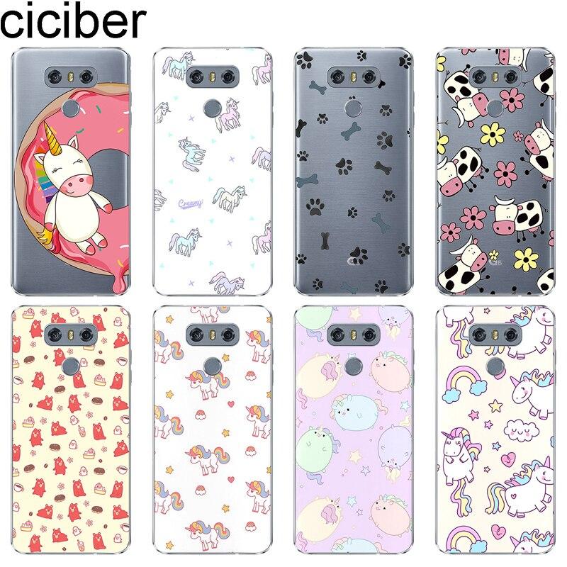 Cartoon Unicorn For LG G7 G6 G5 G4 V40 V35 V30 V20 THINQ Soft TPU Phone Case For LG K8 K10 K4 K7 2017 2018 K9 K11+ Cover