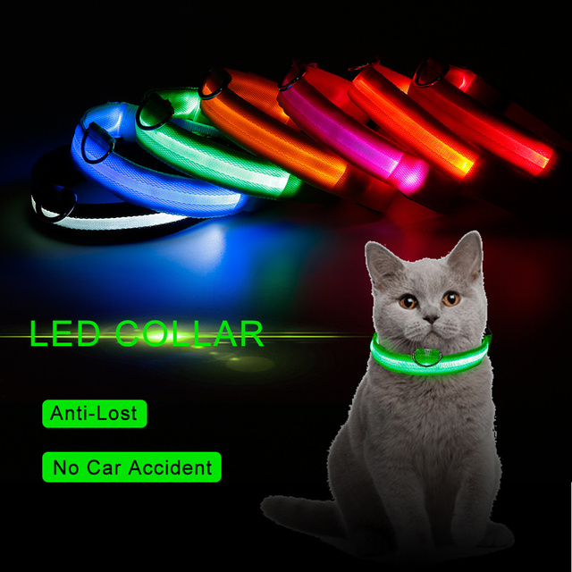 Led Light Dog Collar Avoid Bright Car Accidents
