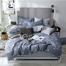 Liv-Esthete Modern Classic Geometric Bedding Set High Quality Soft Duvet Cover Pillowcase Bed Linen Flat Sheet Or Fitted