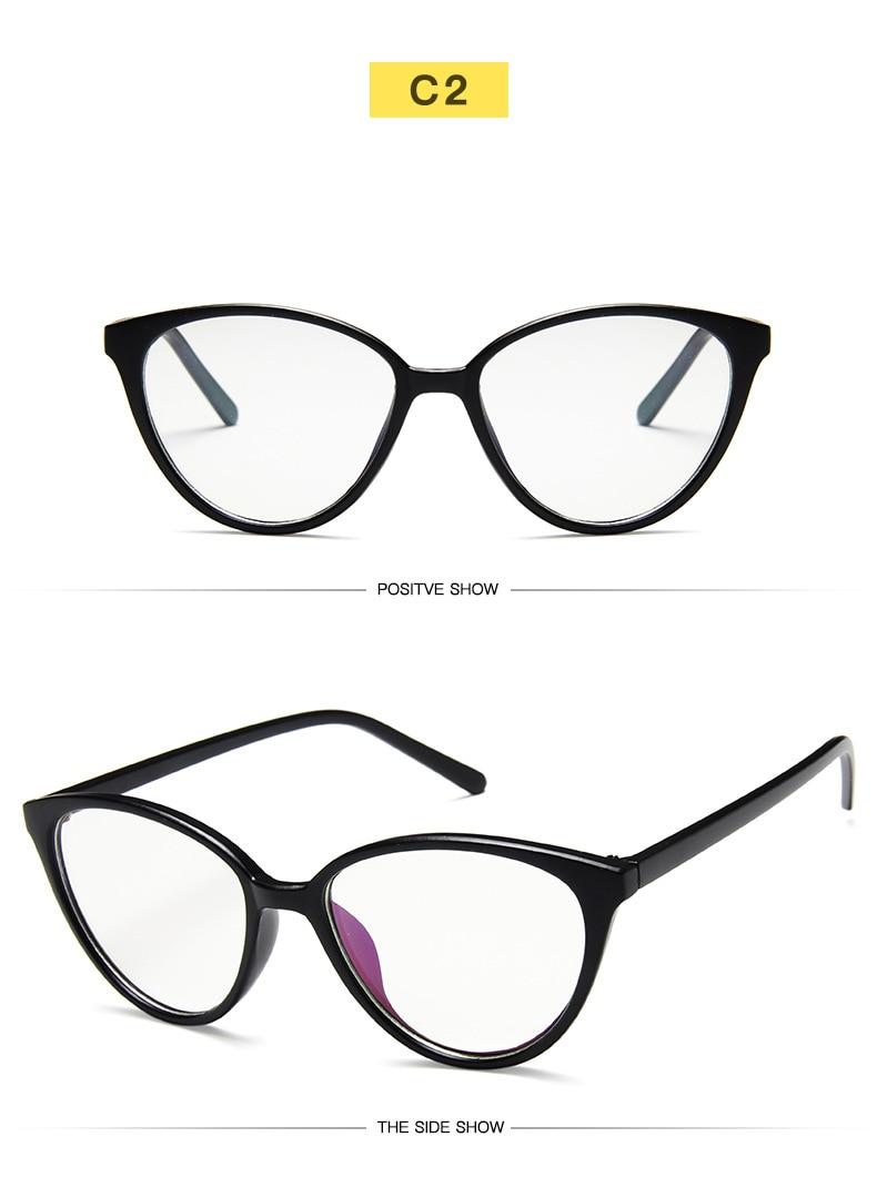 New Retro Cat Eye Women Glasses Frame Anti Blue Light Lady Eyeglasses Frame myopia Vintage Clear Glasses Optical Spectacle Frame (8)