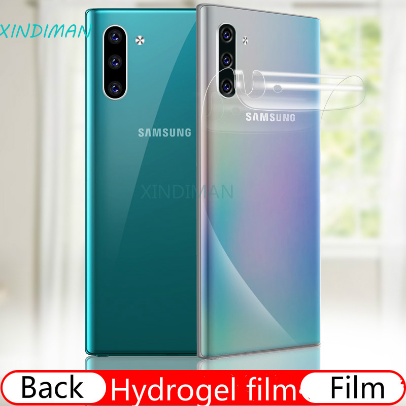25D Full back screen protector for samsung Note10 note10pro soft Hydrogel Film for Samsung S8 S8plus S9 S9plus S10 S10plus S10E in Phone Screen Protectors from Cellphones Telecommunications