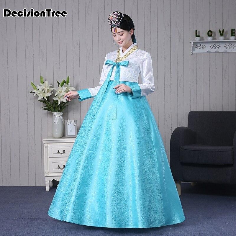 2019 Women Vintage Retro Japanese Kimonos Yukata Korean Traditional Dress Hanbok Clothing Korean Dress