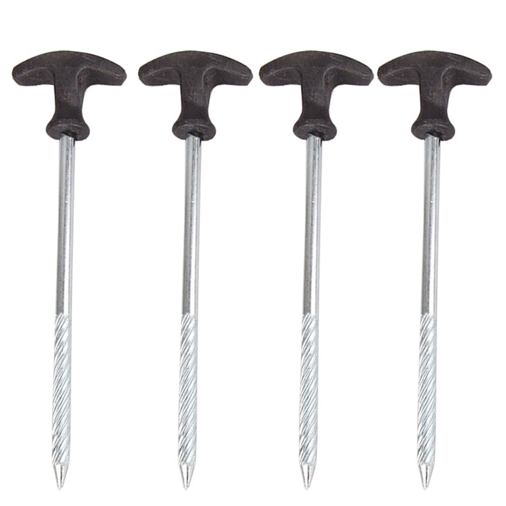 For Camping Thickening Tent Pegs Lengthening Outdoor Activities T-Shape Screw For Hard Frozen Soil Endurable Tent Nail Travel