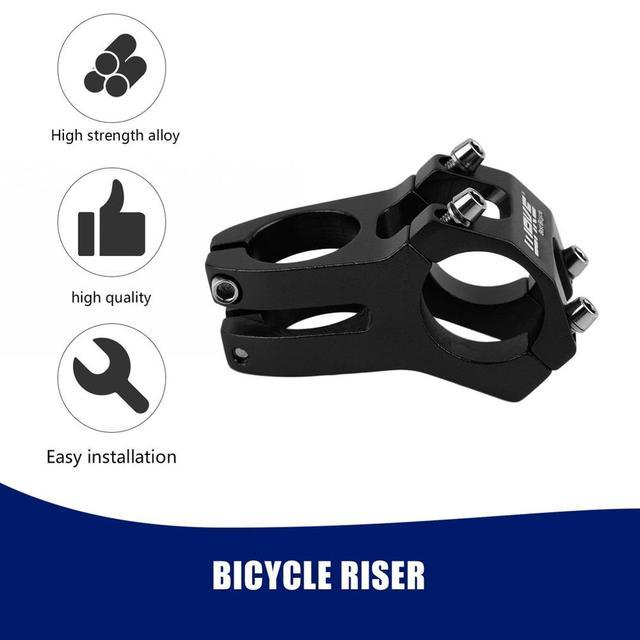31 8mm adjustable Bicycle Stem Bicycle MTB Bike Aluminum Short Handlebar Stem Riser Fixed Bike Bar