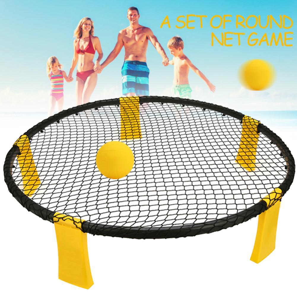 Мини мяч набор игр пляжный волейбол шип Набор для игры в мяч Открытый Командные виды спорта Spikeball газон Фитнес оборудование с 3 шары