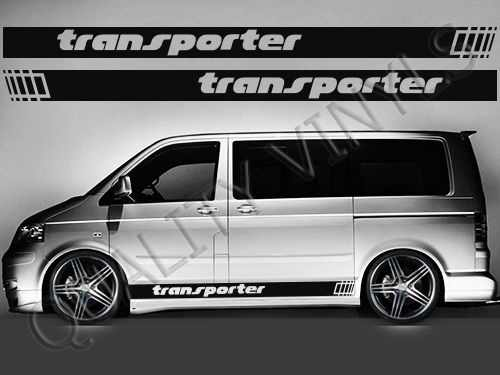 For 1Set/2pcs RS183 VW TRANSPORTER T4 T5 T6 RACING STRIPES GRAPHIC DECAL STICKERS Car styling