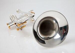 Image 1 - BULUKE  Trumpet  Music instrument Bb flat trumpet Grading preferred Slivered plated trumpet professional performance