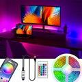 Светодиодный полосы светильник RGB гибкий светодиодный светильник светодиодный Luces USB SMD 2835 м, 1 м, 2 м, 3 м, 4 м, 5 м RGB светодиодный лента светильни...