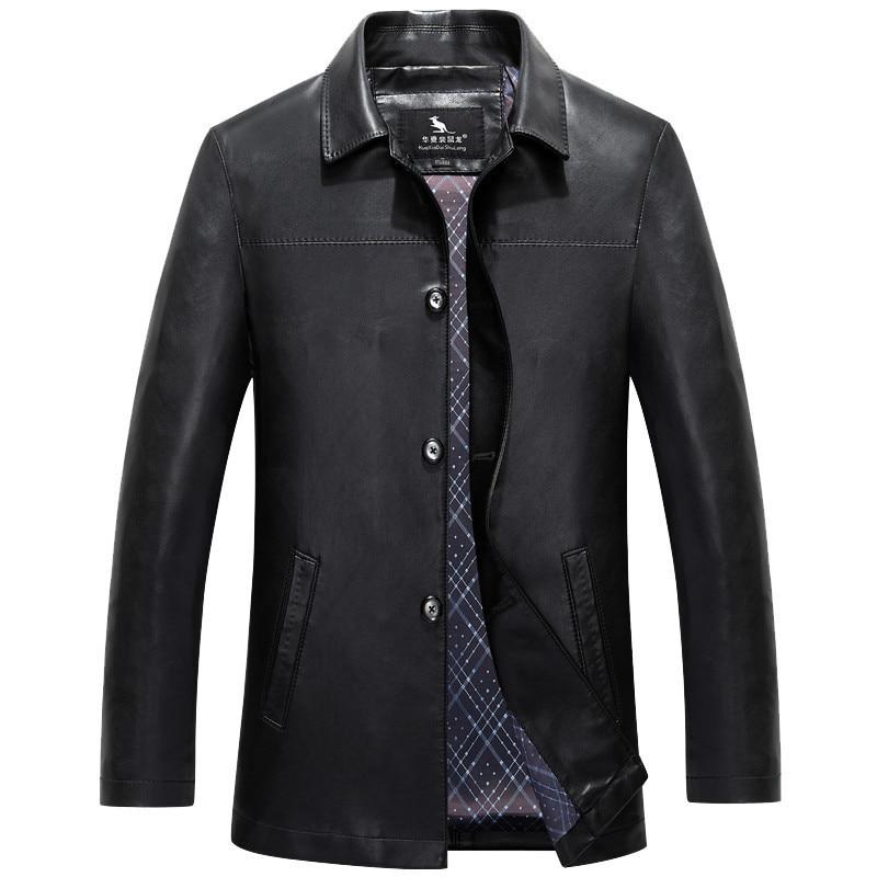 Men's Genuine Leather Long Jacket Brand Windbreaker  Man  Leather Jackets Winter  Coat  Luxury Brand Men's Leather Jackets
