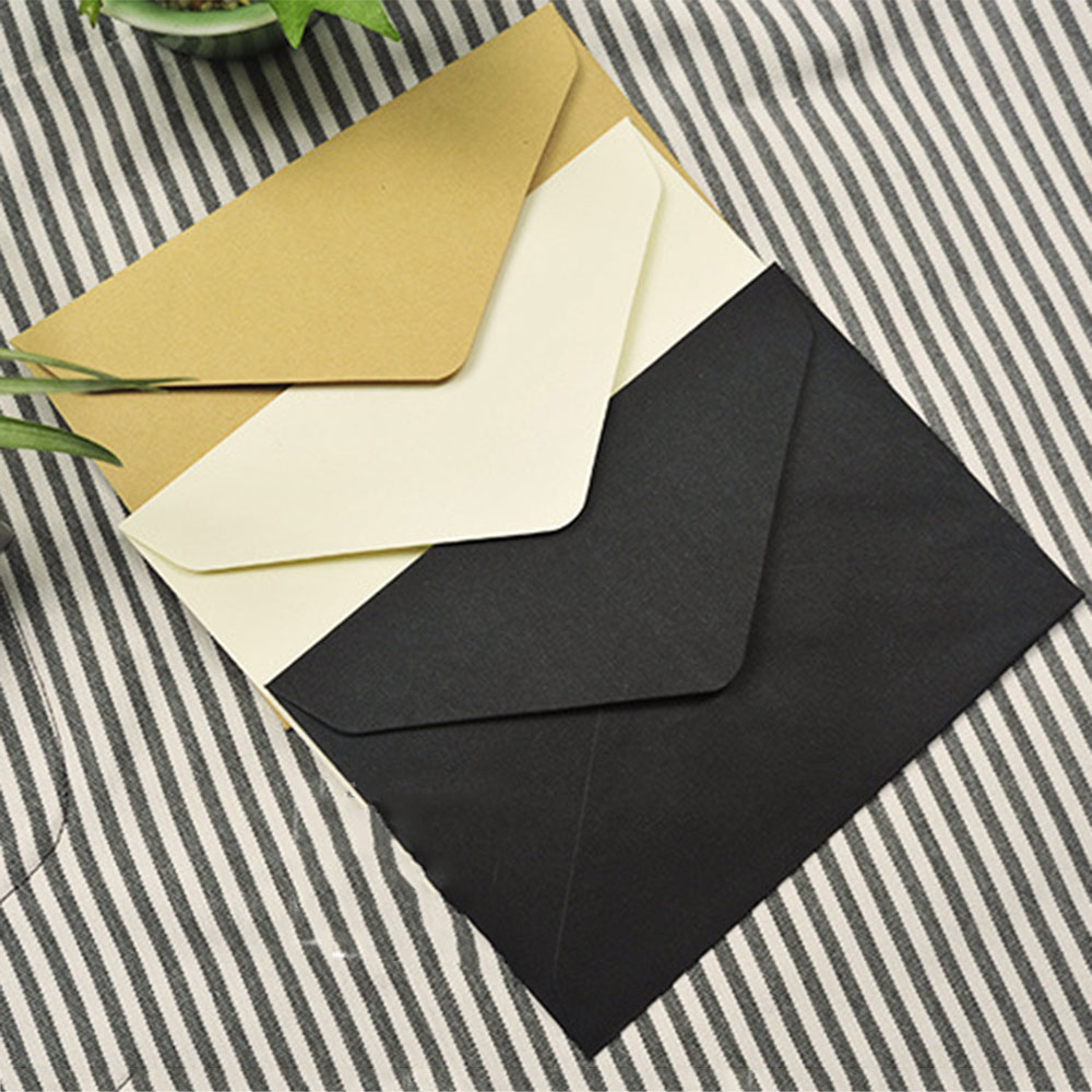 Cards In Classical 3 Colors 10Pcs/Lot 114mm X 162mm C6 Recycled Envelopes Card Postcard Envelope Card Making Colored Greeting