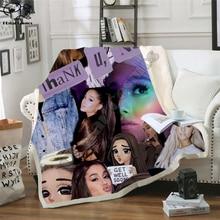 Ariana Grand Fleece Blanket Plush 3d Printed for Adults Sofa Sherpa Fleece Bedspread Wrap Throw Blanket style-1