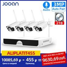 Jooan 8CH NVR HD 3MP sistema di telecamere a circuito chiuso registrazione Audio P2P esterno Wifi telecamera di sicurezza IP Set Kit di videosorveglianza