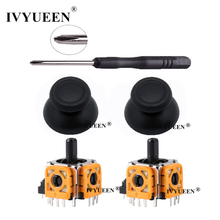 IVYUEEN 2 Sets for Dualshock 4 PS4 PRO Slim Controller 3D Analog Stick 3 Pin Sensor Module Potentiometer with ThumbSticks Caps