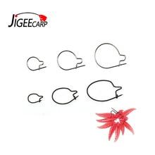 JIGEECARP 20PCS Carp Fishing Maggots Clip Earthworm Clip Hair Rig Worm