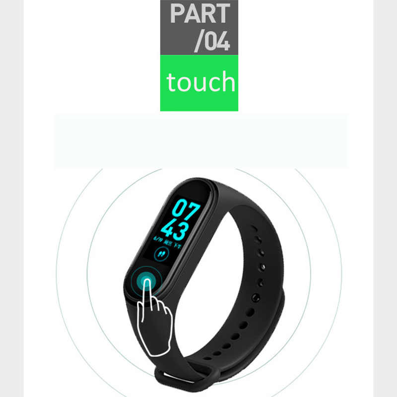 M4 Wristband Smartband Sport Bracelet Flim Watch Heart Rate Monitor Fitness Tracker Activity Blood Pressure Bluetooth Smartwatch