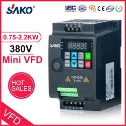 SAKO SKI780 380 в 0. 75 кВт/1. 5 кВт/2. 2 кВт мини VFD инвертор переменной частоты для двигателя контрольный преобразователь скорости