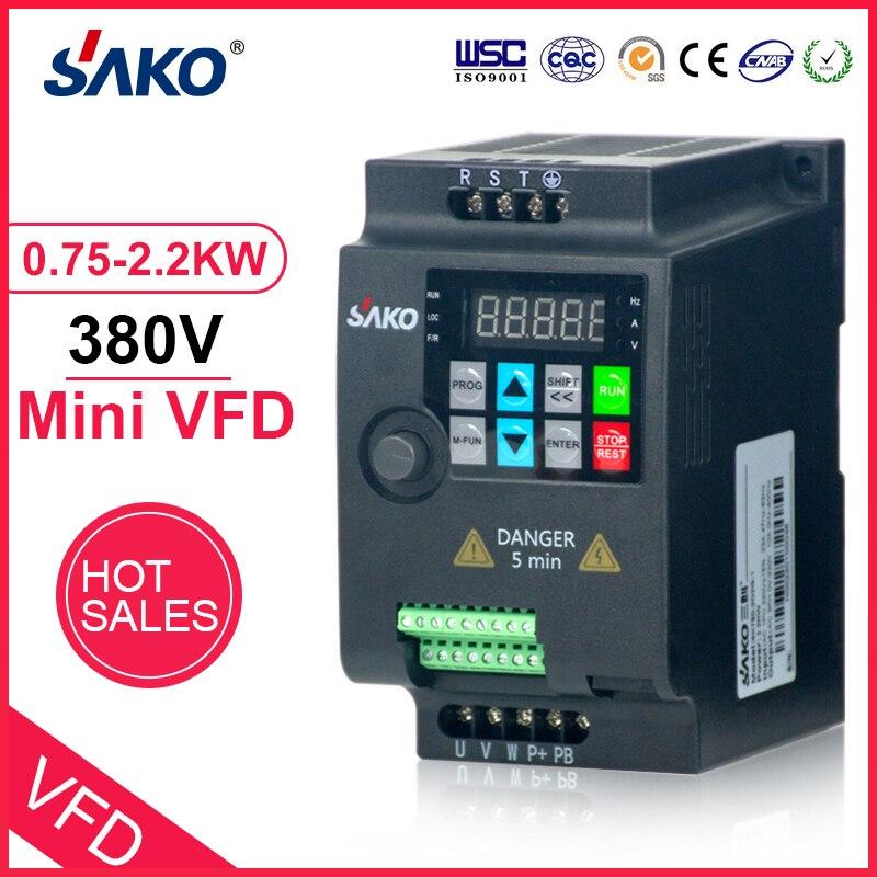 SAKO SKI780 380V 0. 75KW/1. 5KW/2.2KW Mini VFD przemiennik częstotliwości do silnika kontrola prędkości konwerter