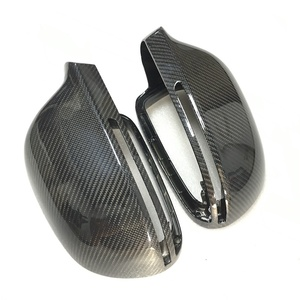 Image 1 - For Audi A4 B8 A6 C6 A5 8T Q3 A3 8P Real Carbon Fiber Mirror Cover Rearview Side Mirror Cap S Line