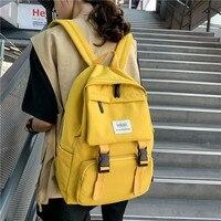 2020 Neue Rucksack Frauen Multi Tasche Nylon Frauen Rucksack Schule Tasche Für Teenager Schulter Reisetasche Weibliche Rucksäcke-in Rucksäcke aus Gepäck & Taschen bei