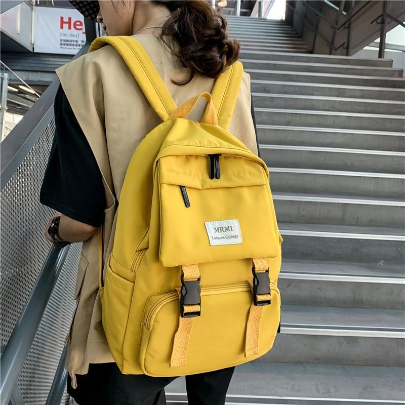 2020 New Backpack Women Multi Pocket Nylon Women Backpack School Bag For Teenage Shoulder Travel Bag Female Backpacks
