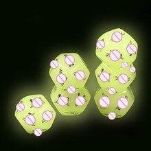 1 шт в упаковке сексуальные игральные кости эротический крэпс Серебристые кости Любовь Сексуальные игральные кости игрушки для взрослых се...