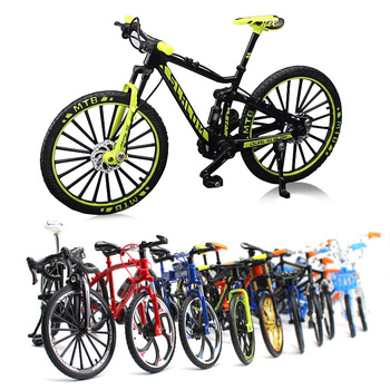 Mini Model Bikes Toys Model Mountain Bike Mini Bicycle Alloy Road Racing Cycling Decoration Children's Mobile Gift Toys for Kids ship from germany 20 bmx student kids children bicycle bike mountain biking off road bikes christmas gift