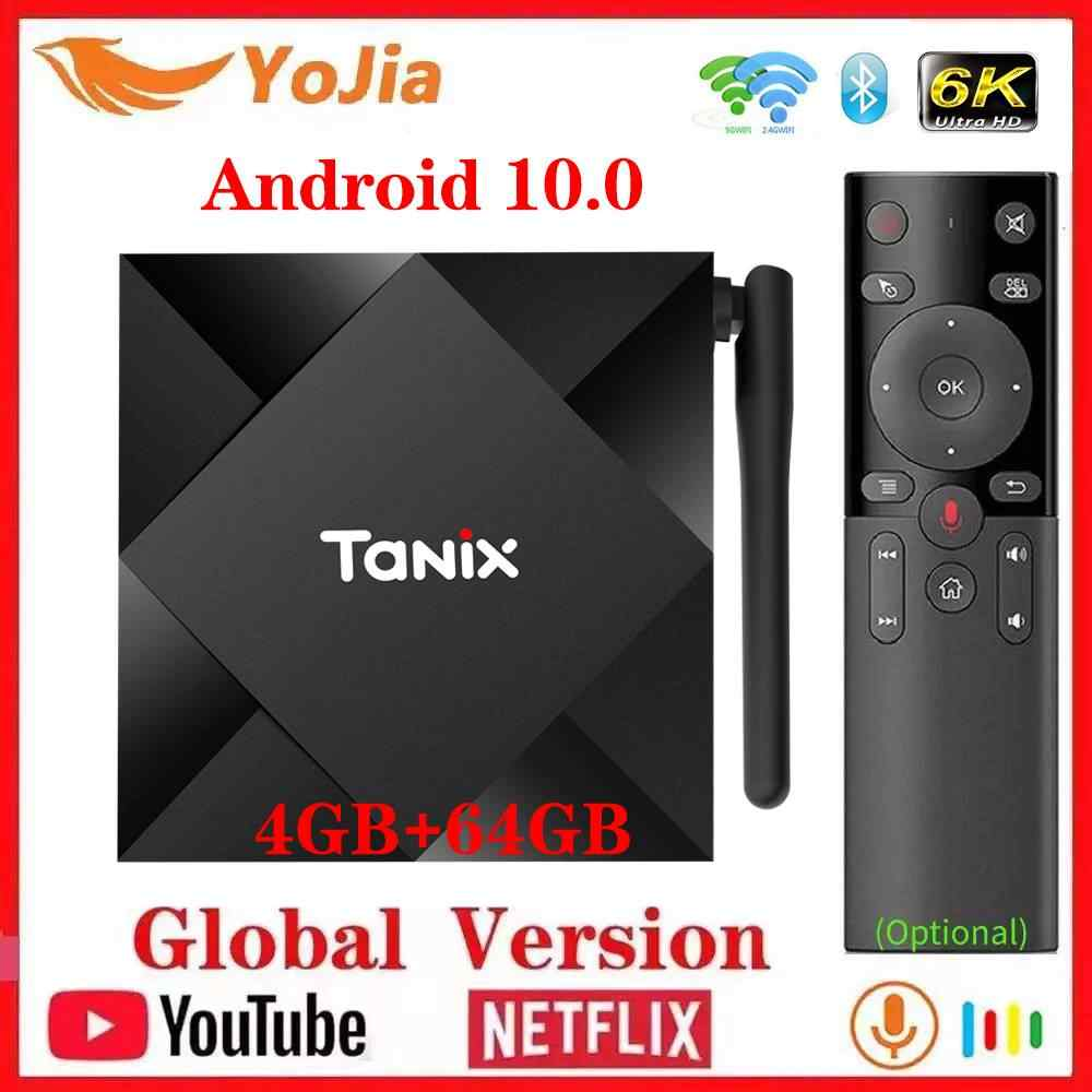 Android 10,0 TV Box 4GB RAM 64GB ROM Allwinner H616 Tanix TX6S Android 10 QuadCore 6K Dual Wifi TX6 Media Player 2G/8G Youtube