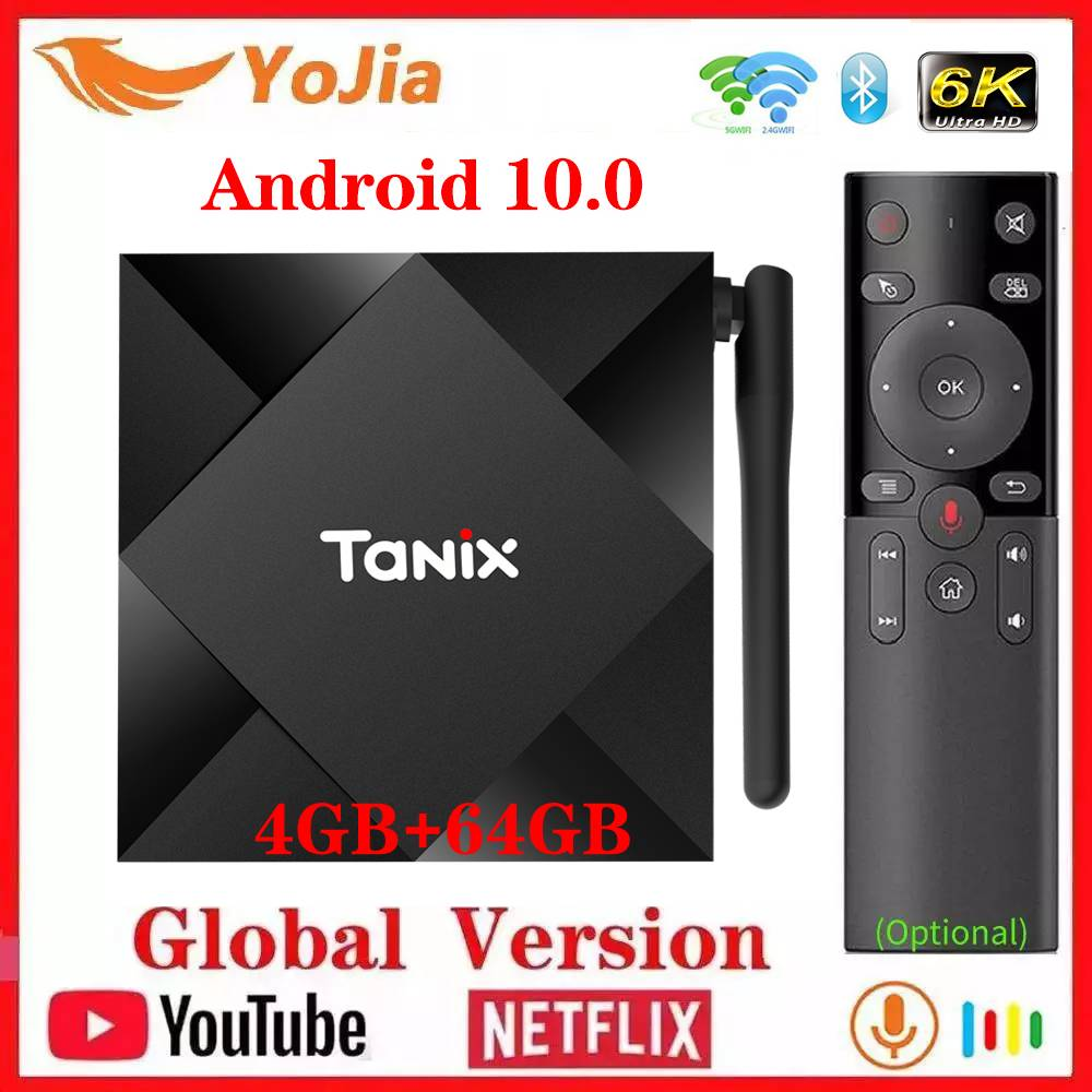 NEW Android 10.0 TV Box Max 4GB RAM 64GB ROM Allwinner H616 Tanix TX6S Android 10 QuadCore 6K Dual Wifi TX6 Media Player Youtube