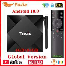 Nowy Android 10.0 TV, pudełko Max 4GB RAM 64GB ROM Allwinner H616 Tanix TX6S Android 10 QuadCore 6K podwójny Wifi TX6 odtwarzacz multimedialny Youtube(China)