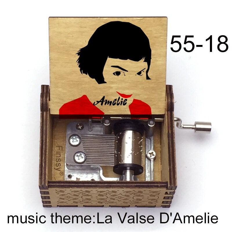 Французская музыкальная шкатулка Amelie музыкальная шкатулка для кинопоклонников, новогодние и рождественские подарки для девочек